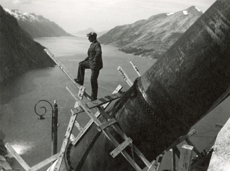 Vannkraft arbeider 1900